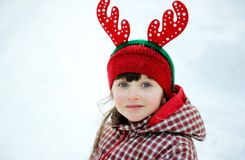 Portrait of adorable child girl Stock Photos