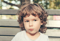 Portrait of adorable child royalty free stock photography