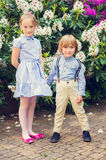 Portrait of adorable children, outdoors Royalty Free Stock Photos