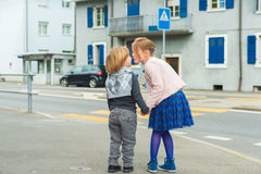 Portrait of adorable children, outdoors Stock Photography