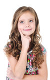 Portrait of adorable dreaming little girl Royalty Free Stock Photography