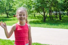 Portrait of adorable funny little girl Royalty Free Stock Photography