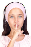 Portrait of adorable girl ordering silence Stock Photography