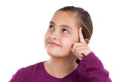 Portrait of adorable girl thinking Stock Photography