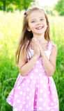 Portrait of adorable happy little girl Royalty Free Stock Image