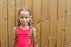 Portrait of adorable happy little girl on summer Royalty Free Stock Photo