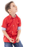 Portrait of an adorable little boy looking up Stock Photography