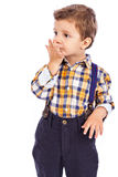 Portrait of an adorable little boy sending a kiss Royalty Free Stock Image