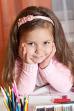 Portrait adorable little girl Stock Photography