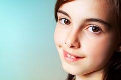 Portrait of an adorable little girl Stock Photos