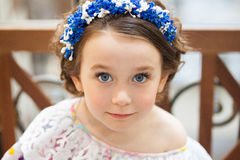 Portrait of an adorable little girl royalty free stock images