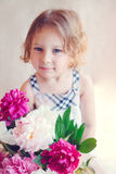 Portrait of adorable little girl Royalty Free Stock Photos