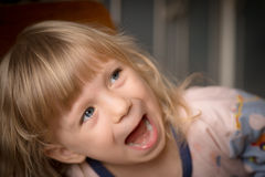 Portrait of adorable little girl. Royalty Free Stock Photography