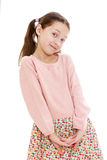 Portrait of adorable little girl with long hair Royalty Free Stock Photo