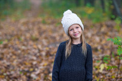 Portrait of adorable little girl outdoors at Royalty Free Stock Images