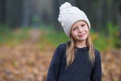 Portrait of adorable little girl outdoors at Stock Photos