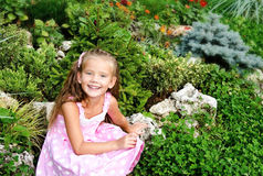 Portrait of adorable little girl in the park Royalty Free Stock Image
