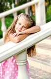 Portrait of adorable little girl in the park Royalty Free Stock Images