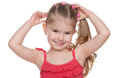 Portrait of an adorable little girl Stock Image