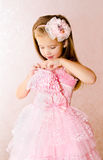 Portrait of adorable little girl in princess dress Royalty Free Stock Images