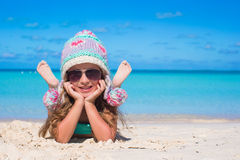 Portrait of adorable little girl on summer Stock Images