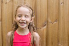 Portrait of adorable little girl on a warm summer Royalty Free Stock Photo