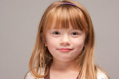 Portrait of an Adorable Red Haired Girl royalty free stock image