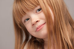 Portrait of an Adorable Red Haired Girl Stock Image