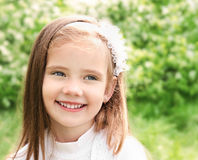 Portrait of adorable smiling little gir Royalty Free Stock Photo