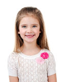 Portrait of adorable smiling  little girl isolated Stock Images