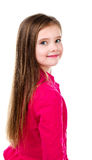 Portrait of adorable smiling  little girl isolated Royalty Free Stock Photos