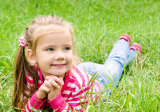 Portrait of adorable smiling little girl Royalty Free Stock Photography