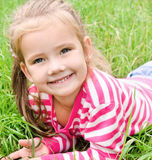 Portrait of adorable smiling little girl royalty free stock photos