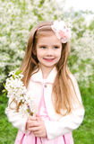 Portrait of adorable smiling little girl Stock Images