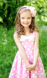 Portrait of adorable smiling little girl Royalty Free Stock Image