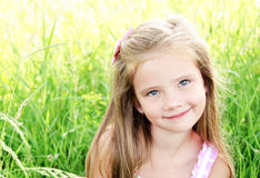 Portrait of adorable smiling little girl Royalty Free Stock Photo