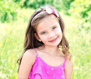 Portrait of adorable smiling little girl Royalty Free Stock Images