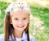 Portrait of adorable smiling little girl Stock Photography