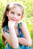 Portrait of adorable smiling little girl outdoor Royalty Free Stock Images