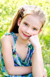 Portrait of adorable smiling little girl outdoor Royalty Free Stock Image