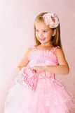 Portrait of adorable smiling little girl in princess dress Royalty Free Stock Image