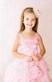 Portrait of adorable smiling little girl in princess dress Stock Image