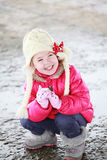 Portrait of an adorable toddler blonde girl Royalty Free Stock Photography