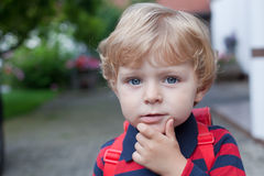 Portrait of adorable toddler boy Stock Photography