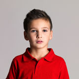 Portrait of adorable young beautiful boy Royalty Free Stock Image