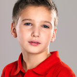 Portrait of adorable young beautiful boy Stock Photography