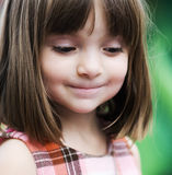 Portrait of an adorable young girl. With funny excited look on her face royalty free stock photography