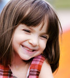 Portrait of an adorable young girl. With funny excited look on her face royalty free stock photos