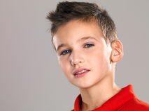 Portrait of an adorable young happy boy Stock Image