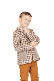 Portrait adorable young happy boy looking at camera isolated on Royalty Free Stock Image